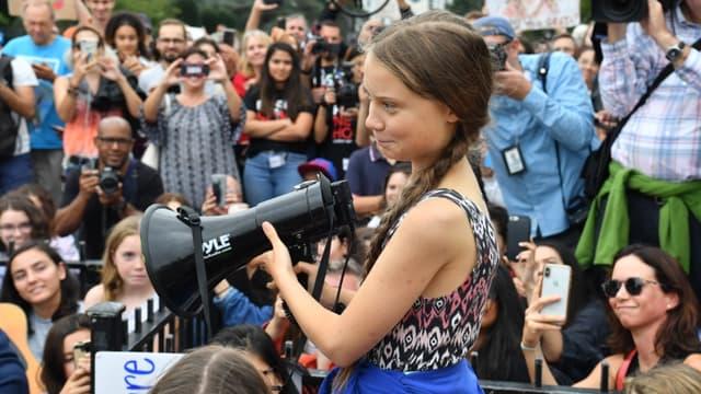 Greta Thunberg à une manifestation pour le climat à Washington, le 18 septembre