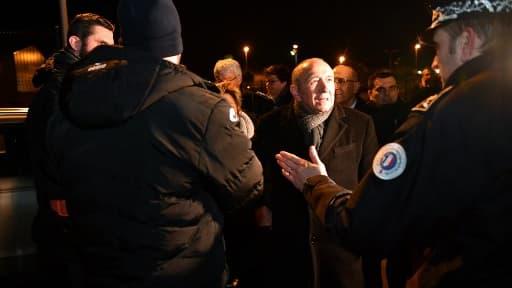 Le ministre de l'intérieur Gérard Collomb le 2 février 2018 à Calais