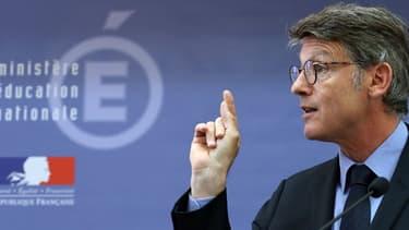 Vincent Peillon, ministre de l'Education, lors d'une conférence de presse de rentrée le 29 août dernier.