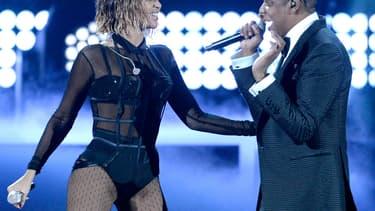 Beyoncé et Jay Z aux Grammy Awards à Los Angeles, en janvier 2014.