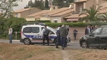 A Istres les policiers à pied d'oeuvre le jour de la fusillade qui a fait trois morts..
