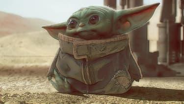 Baby Yoda dans la série The Mandalorian