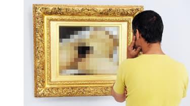 """Le tableau """"L'Origine du monde"""" de Gustave Courbet doit être flouté pour être publié sur Facebook."""