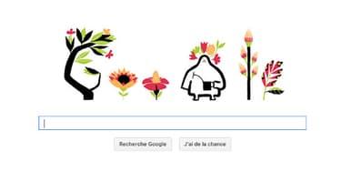 Le doodle en hommage à l'équinoxe de printemps, de Google.
