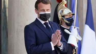Le président Emmanuel Macron, le 27 avril 2021 à Paris