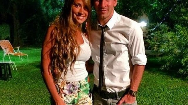 Lionel Messi et Antonella