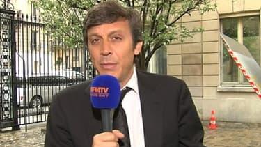 David Assouline, porte-parole du PS, au micro de BFMTV le 1er mai dernier.