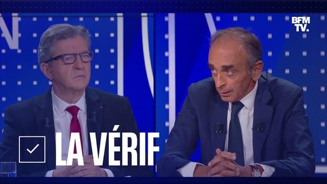 Jean-Luc Mélenchon face à Eric Zemmour sur le plateau de BFMTV, le 23 septembre 2021.