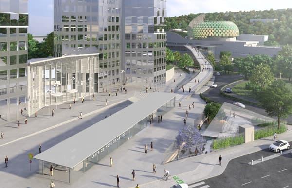 La future gare du Pont de Sèvres.