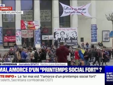 1er mai: une manifestation qui s'est déroulée dans le calme à Nantes