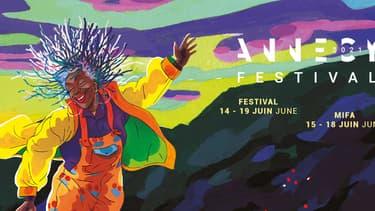 L'affiche du festival d'Annecy 2021