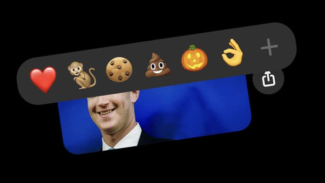 Les nouvelles réactions sur Facebook Messenger
