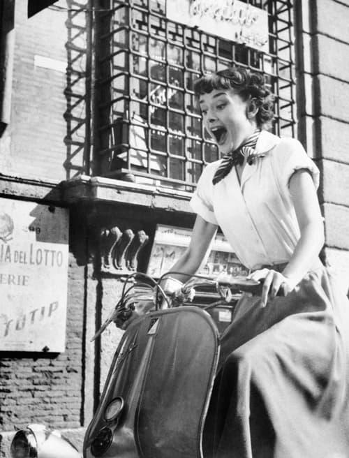 Audreu Hepburn dans Vacances Romaines