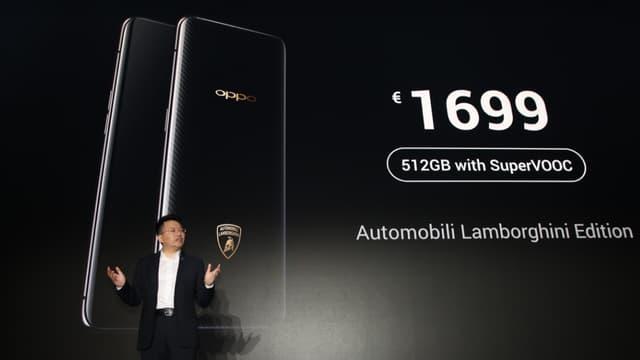 Le smartphone Oppo édition Lamborghini a été dévoilé le 19 juin.