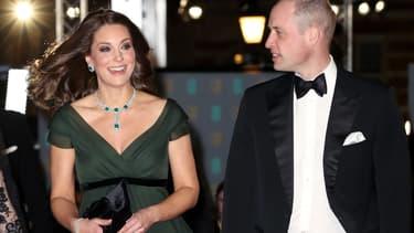Kate Middleton et le prince William aux Bafta le 18 février, à Londres