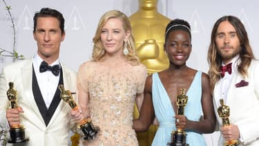 De gauche à doite: Matthew McConaughey, Cate Blanchett, Lupita Nyong'o et Jared Leto.