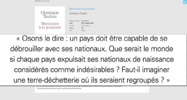 Christiane Taubira explique sa position contre la déchéance de nationalité dans ce libvre