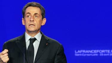 Nicolas Sarkozy pendant la campagne présidentielle de 2012.