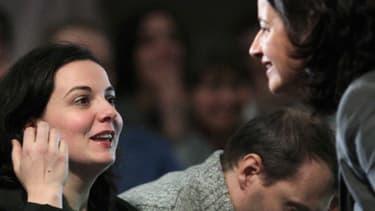 Emmanuelle Cosse et Cécile Duflot, le 30 novembre, au congrès de Caen.