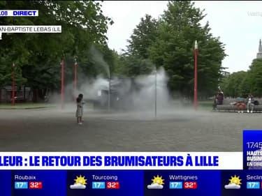 Lille: des brumisateurs installés pour lutter contre la chaleur