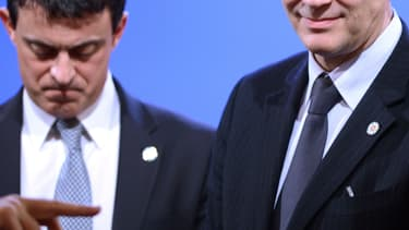 Manuel Valls et Arnaud Montebourg en 2012