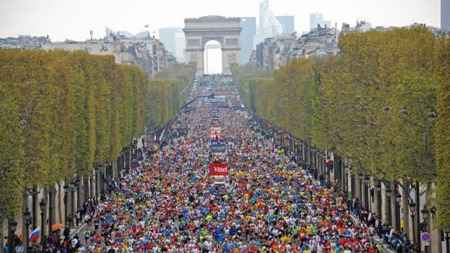 """Dispositif de sécurité """"considérablement renforcé"""" pour le marathon de Paris - Mercredi 31 mars 2016"""