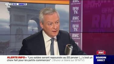 """Bruno Le Maire: """"Le fonds de solidarité dit 'universel' ne sera pas poursuivi après le 31 décembre"""""""