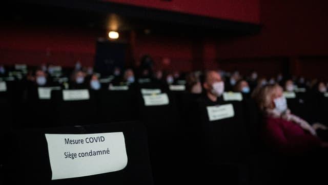 Un cinéma à Ivry-sur-Seine en mars 2021 (photo d'illustration)