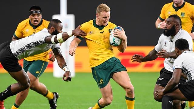 Les Australiens contre les Fidji, lors de leur premier match.
