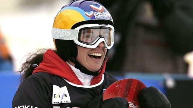 Julie Pomagalski, à Bad Gastein (Autriche) le 21 décembre 2006