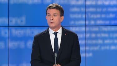 L'ancien Premier ministre Manuel Valls, sur le plateau de BFMTV le 14 mai 2021.