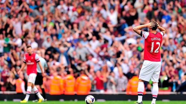Olivier Giroud dépité à l'Emirates