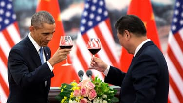 Barack Obama et Xi Jinping en novembre 2014