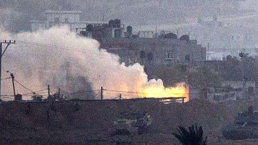 Une photo de Gaza prise du côté israélien de la frontière.
