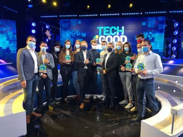 Les gagnants des Tech for Good Awards 2020.