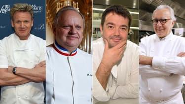 Gordon Ramsay, Joël Robuchon, Jean-François Piège et Alain Ducasse ont tiré leur épingle du jeu cette année au Michelin.
