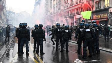 Manifestation contre la réforme des retraites à Paris, le 9 janvier 2020