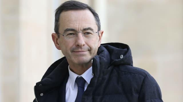 Le sénateur LR Bruno Retailleau dans la cour de l'Elysée, le 5 février 2019