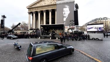 L'église de la Madeleine le jour des obsèques de Johnny Hallyday