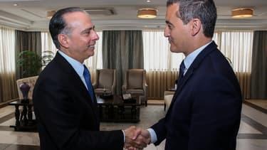Le ministre panaméen des Affaires étrangères et Gérald Darmanin