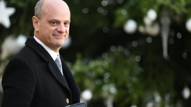 Le Ministre de l'éducation, Jean-Michel Blanquer, quitte le palais de l'Elysée, le 18 décembre 2019