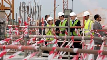 En mars dernier, Nicole Bricq, ministre du Commerce extérieur, s'était rendu sur le chantier d'Az Zour.