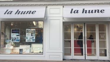 La librairie La Hune, rue de l'Abbaye dans le VI e arrondissement de Paris
