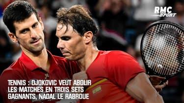 Tennis : Djokovic veut abolir les matches en trois sets gagnants, Nadal le rabroue