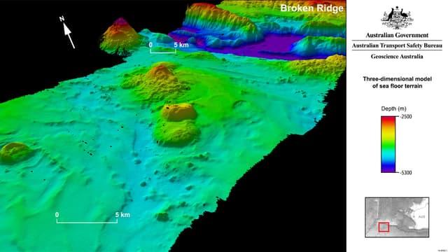 La zone de recherce du MH370 en septembre 2014.