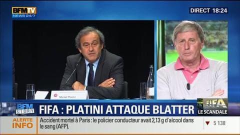 """Corruption à la Fifa: Michel Platini demande à Sepp Blatter """"de démissionner"""" (1/2)"""