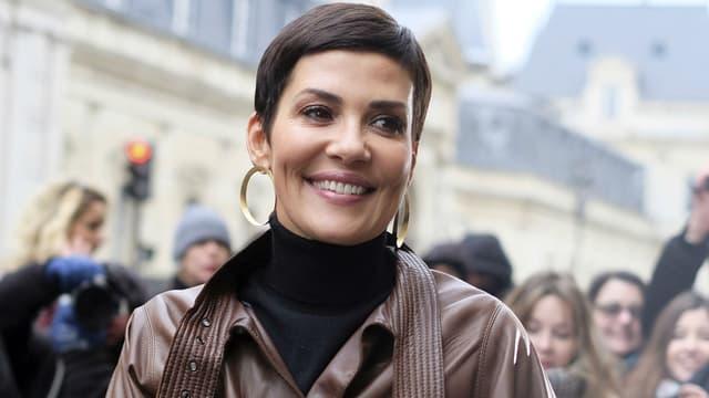 Cristina Cordula à la Fashion Week à Paris en 2017