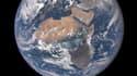 Vue de la Terre centrée sur l'Afrique, prise par un satellite de la Nasa.