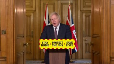 Le Premier ministre Boris Johnson lundi 8 mars 2021