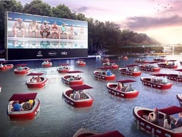 Une séance de cinéma sur l'eau au bassin de la Villette organisée le 18 juillet.